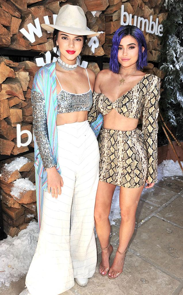 Kendall Jenner and Kylie Jenner attend Winter Bumbleland