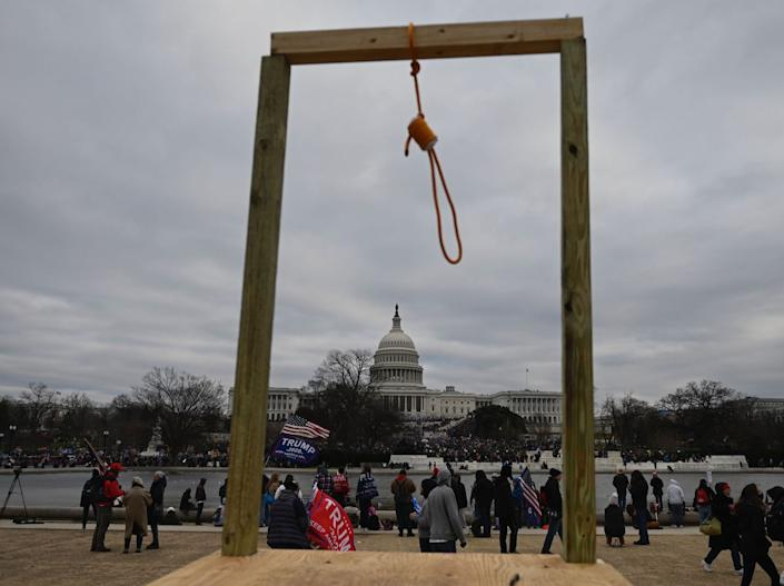 noose washington dc capitol pro trump protest election