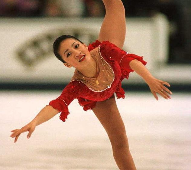 Your fave figure skater from childhood Michelle Kwan is a gorgeous yogi goddess now