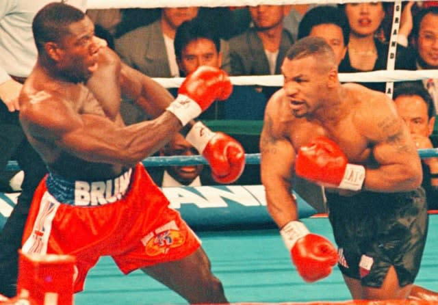 Frank Bruno suffered two painful beatings by Mike Tyson (Sean Dempsey/PA)
