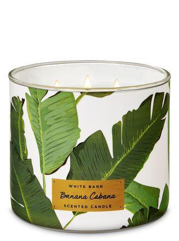 """<p>We're not <em>not</em> buying this Banana Cabana candle as a chic <a href=""""https://www.refinery29.com/en-us/2017/12/186326/home-decor-trends-2018"""" rel=""""nofollow noopener"""" target=""""_blank"""" data-ylk=""""slk:coffee table accessory"""" class=""""link rapid-noclick-resp"""">coffee table accessory</a>.</p><br><br><strong>Bath & Body Works</strong> Banana Cabana 3-Wick Candle, $24.5, available at <a href=""""https://www.bathandbodyworks.com/p/banana-cabana-3-wick-candle-024378220.html?cgid=new-arrivals#sz=48&start=38#locklink"""" rel=""""nofollow noopener"""" target=""""_blank"""" data-ylk=""""slk:Bath & Body Works"""" class=""""link rapid-noclick-resp"""">Bath & Body Works</a>"""