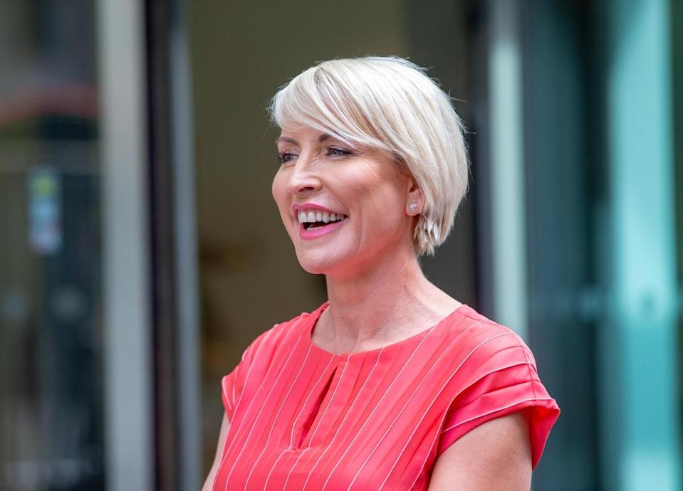 Heather Mills outside the High Court of London in 2019