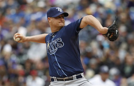 Cobb overcomes 3 HRs, helps Rays beat Rockies
