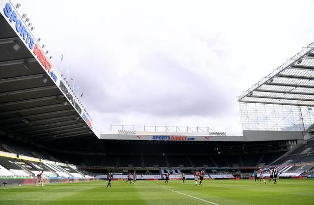 St James' Park will be the stage for the first FA Cup draw since the coronavirus pandemic struck the UK (Laurence Griffiths/NMC Pool/PA)