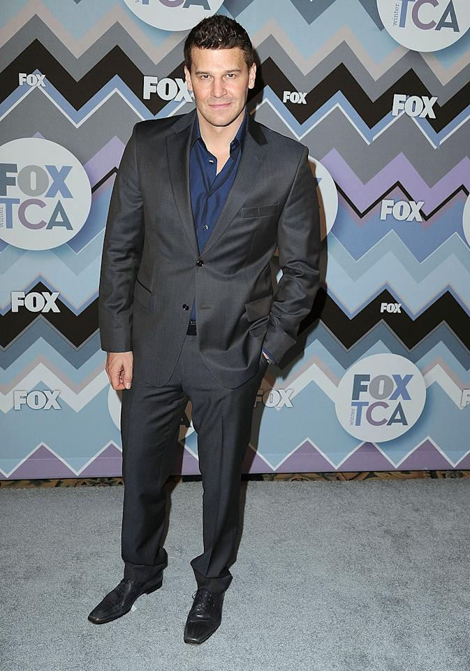 David Boreanaz arrives at the 2013 TCA Winter Press Tour - FOX All-Star Party at The Langham Huntington Hotel and Spa on January 8, 2013 in Pasadena, California.
