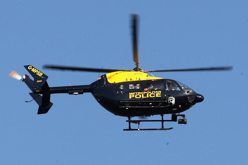 The boy was arrested for shining a laser pen at the helicopter (Chris Jackson/Getty Images): Chris Jackson/Getty Images