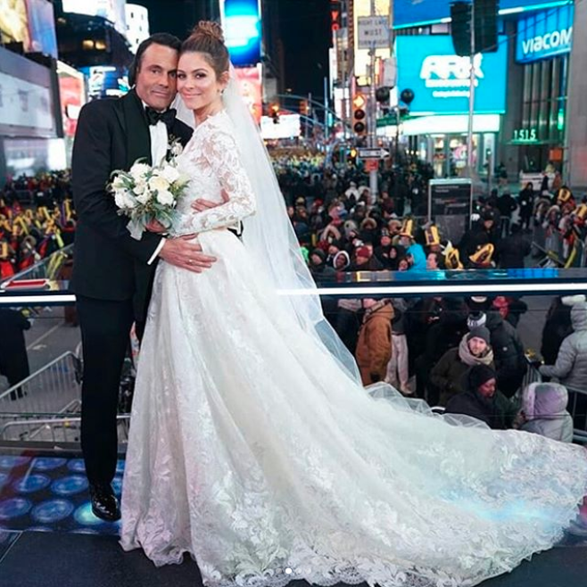 The same designer created TV presenter Maria Menounos' New Year's Eve wedding dress. Photo: Getty Images
