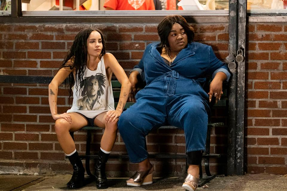 HIGH FIDELITY, from left: Zoe Kravitz, Da'Vine Joy Randolph, 'Weird...But Warm, (Season 1, Episode 106, aired Feb. 14. 2020). photo: Phillip Caruso / Hulu / Courtesy Everett Collection