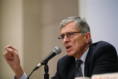 FCC Chairman Wheeler speaks during a Town Hall meeting in Oakland