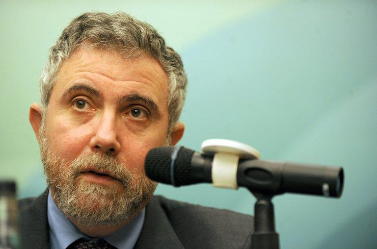 Paul Krugman, 2008 Nobel Laureate, speaks at a press conference held by the Securities and Futures Commission (SFC) in Hong Kong on May 22, 2009. A Twitter feud in June between the Estonian president and New York Times columnist Paul Krugman who questioned the impact of Estonia's austerity measures, is being turned into an opera, US composer Eugene Birman told AFP on Wednesday