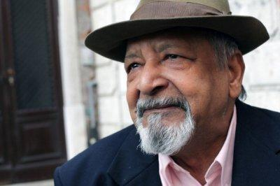Writer VS Naipaul at an Italian literary festival in April. (Photo: Barbara Zanon/Getty Images)