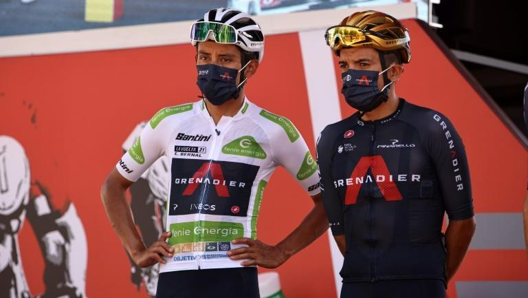 Egan Bernal has Olympic champion Richard Carapaz right behind him in his bid to win the Vuelta