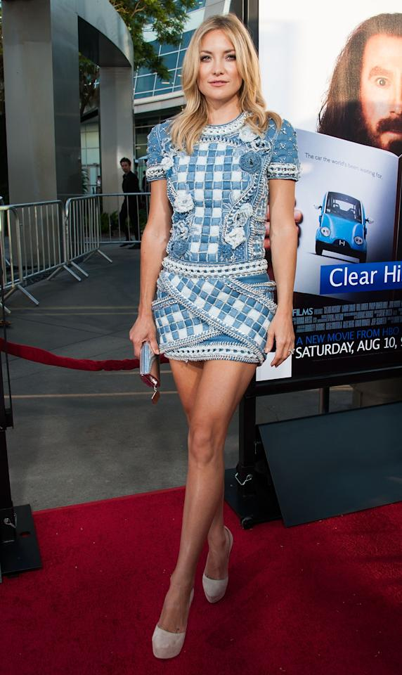 """HOLLYWOOD, CA - JULY 31: Kate Hudson arrives at the Premiere Of HBO Films' """"Clear History"""" at ArcLight Cinemas Cinerama Dome on July 31, 2013 in Hollywood, California. (Photo by Valerie Macon/Getty Images)"""