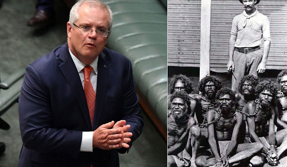 Scott Morrison Says There Was 'No Slavery In Australia', Instantly Gets Dragged On Twitter  (Photo: Huffpost Australia)