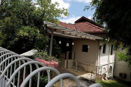 FILE PHOTO: A view of former Prime Minister Lee Kuan Yew's Oxley Road residence in Singapore