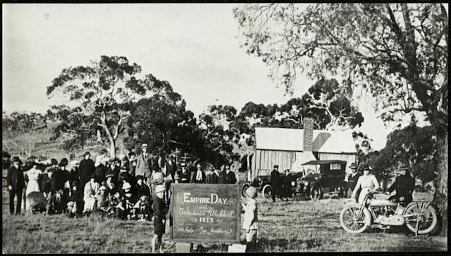 "<span>A school in New South Wales celebrates Empire Day in 1917.</span> <span><a class=""link rapid-noclick-resp"" href=""https://www.flickr.com/photos/state-records-nsw/14550744269"" rel=""nofollow noopener"" target=""_blank"" data-ylk=""slk:NSW State Archives"">NSW State Archives</a></span>"