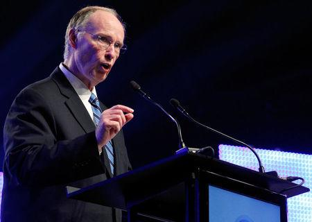 FILE PHOTO: Alabama Governor Robert Bentley speaks during a news conference in Mobile, Alabama