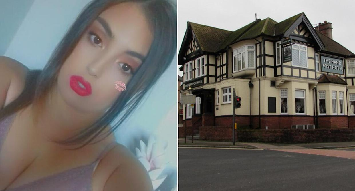 Jessica McMillan, 23, was caught on camera as she lost her temper with Ryan Davies, 27, thrusting a glass into his face. (Wales News)