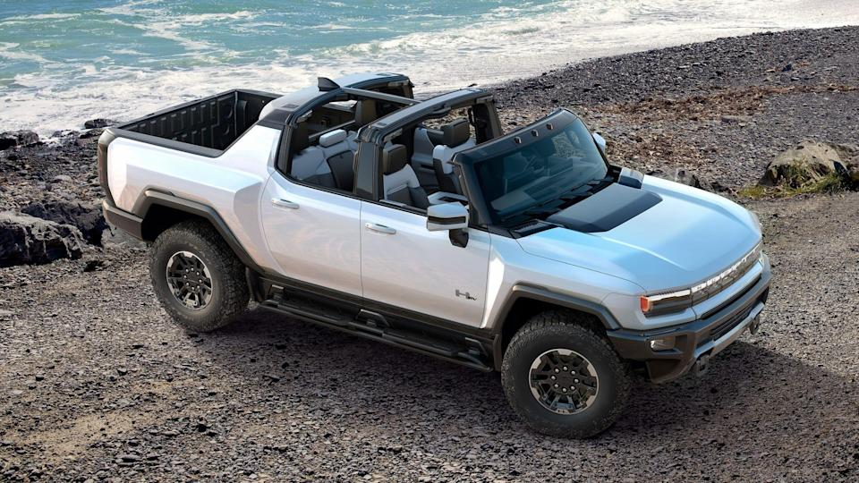 "GM's first all-electric ""supertruck"" Hummer EV."