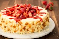 """<p>Strawberries sweeten any celebration, especially in summer. Folded into <a href=""""https://www.redbookmag.com/cooking/recipes/g3971/strawberry-cakes/"""" rel=""""nofollow noopener"""" target=""""_blank"""" data-ylk=""""slk:cakes"""" class=""""link rapid-noclick-resp"""">cakes</a>, covered in chocolate, churned into ice cream, or sprinkled on top of cupcakes and tarts—we've got plenty of ways for you to eat ALL the strawberries this season. Want even more strawberry sweets? Try our <a href=""""https://www.redbookmag.com/cooking/recipe-ideas/g2732/strawberry-shortcake/"""" rel=""""nofollow noopener"""" target=""""_blank"""" data-ylk=""""slk:favorite shortcakes"""" class=""""link rapid-noclick-resp"""">favorite shortcakes</a> too!</p>"""