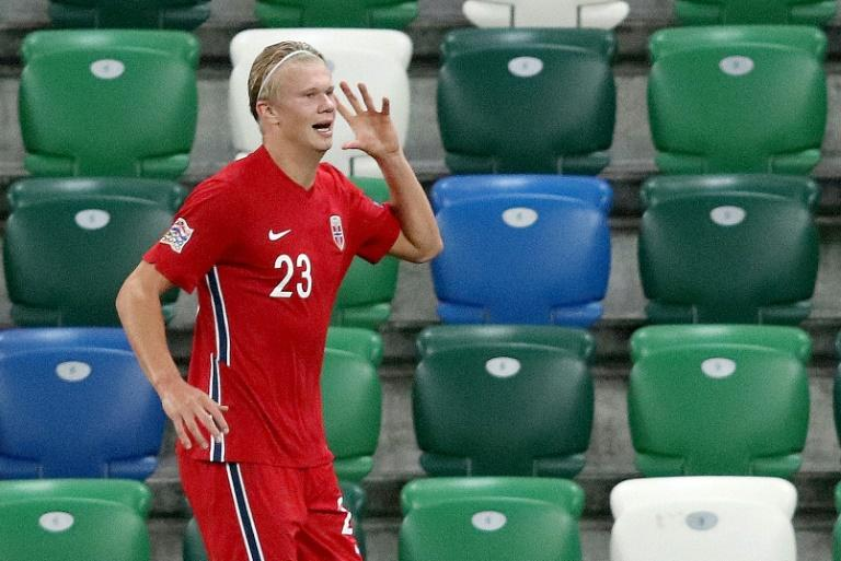 Haaland scores twice as Norway hammer Northern Ireland