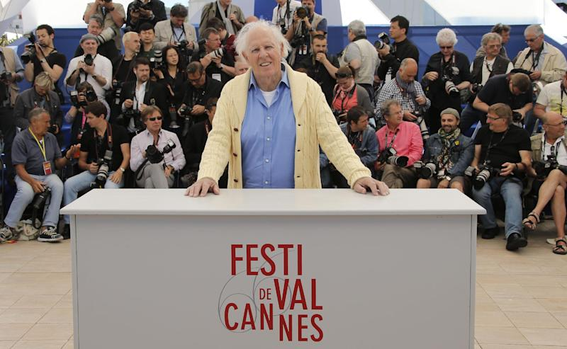 Actor Bruce Dern poses for photographers during a photo call for the film Nebraska at the 66th international film festival, in Cannes, southern France, Thursday, May 23, 2013. (AP Photo/Francois Mori)