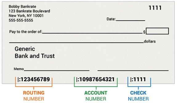 what is the routing number on your checks for  sample of a personal check