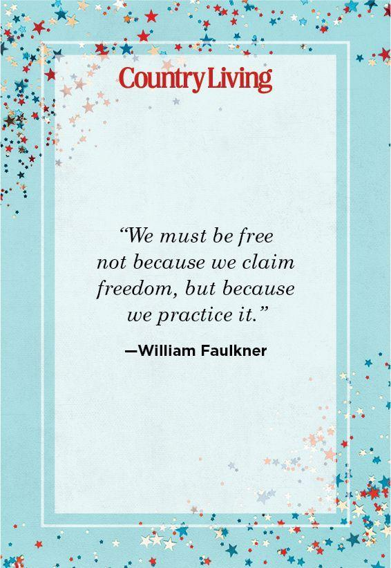 """<p>""""We must be free not because we claim freedom, but because we practice it.""""</p>"""