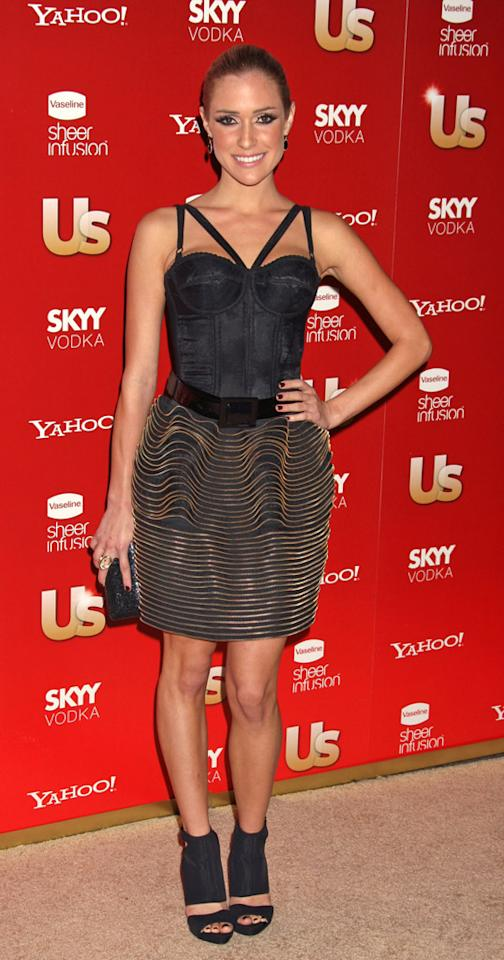 "Kristin Cavallari helped <i>Us Weekly</i> celebrate its annual Hot Hollywood issue at Voyeur in West Hollywood wearing a bizarre belted bustier ensemble. The ""Hills"" starlet was honored as ""Comeback of the Year."" Russ Einhorn/<a href=""http://www.splashnewsonline.com/"" target=""new"">Splash News</a> - November 19, 2009"