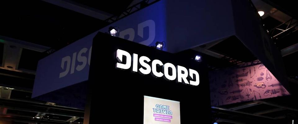 Discord booth at a show.
