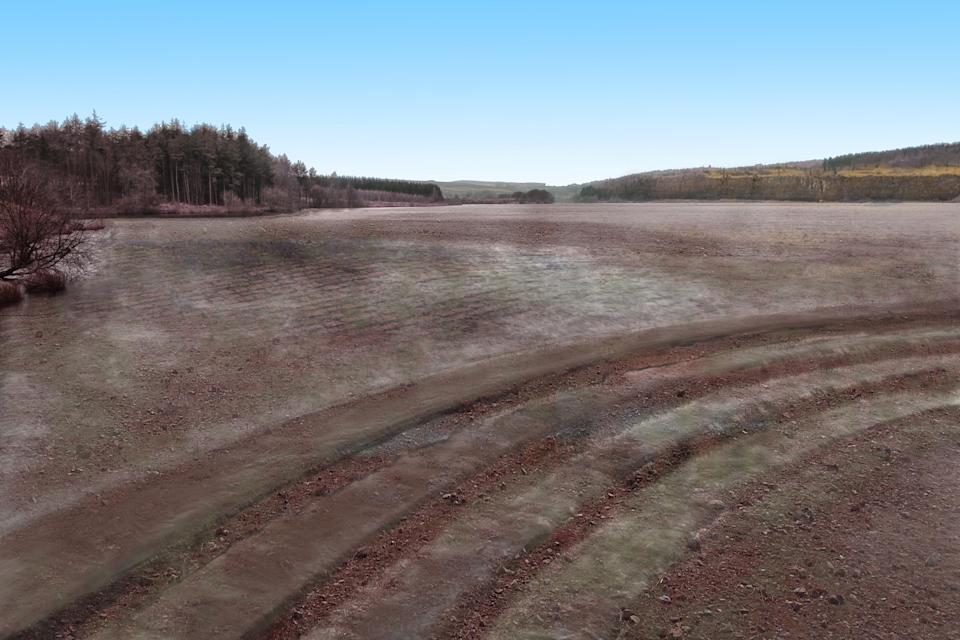 Fewston Reservoir as it could look in 2071 (Yorkshire Water/PA)