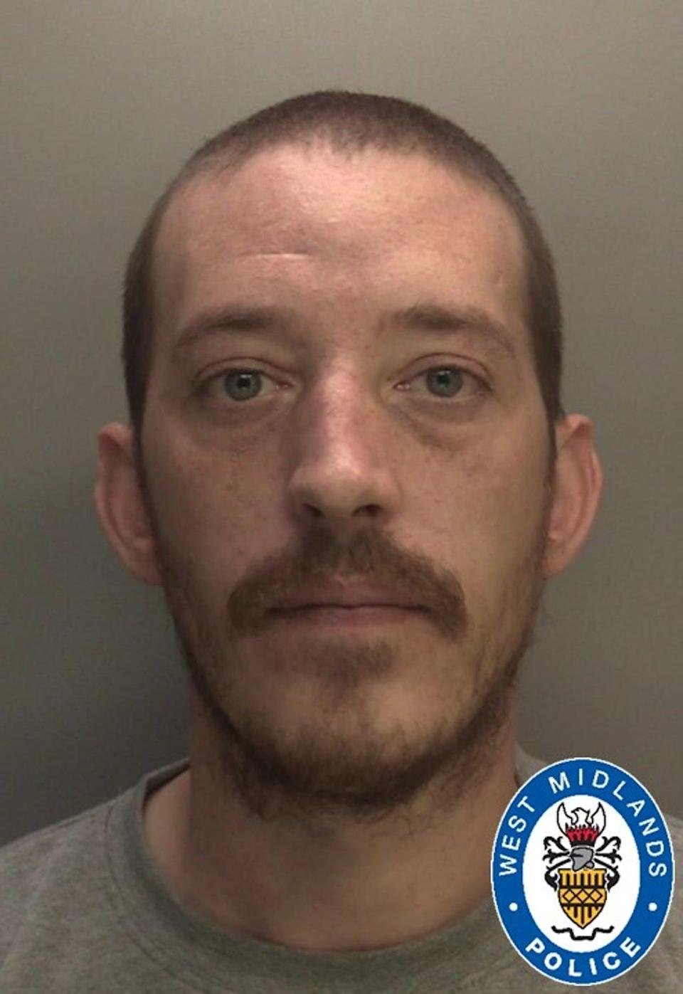 A custody image of David Rogers, who was convicted of murder. (West Midlands Police/PA)