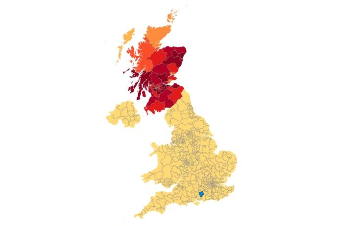 The petition is very popular in Scotland - Credit: UK Government and Parliament