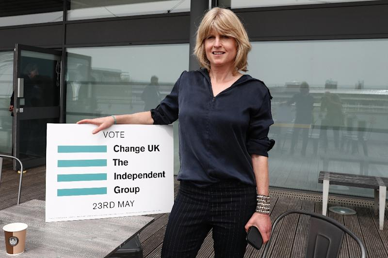 Rachel Johnson -- sister of arch Conservative Brexiterr Boris Johnson -- at the launch of the new pro-EU political party, Change UK