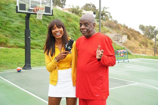 Cari Champion and Jimmie Walker on ABC's 'Battle of the Network Stars' (Photo Credit: Byron Cohen/ABC)