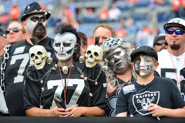 Raiders fans are not happy. (Getty)