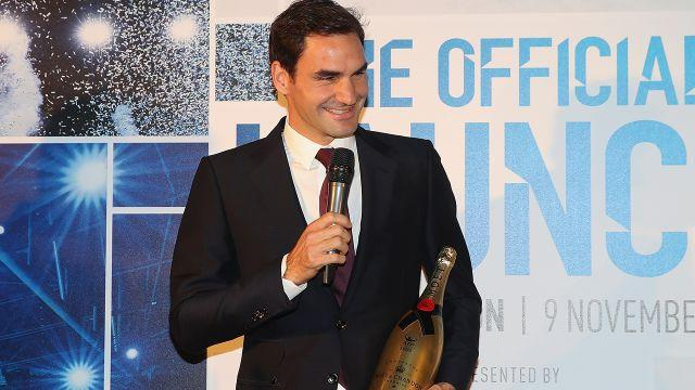Federer was honoured at the ATP Finals. Image: Getty