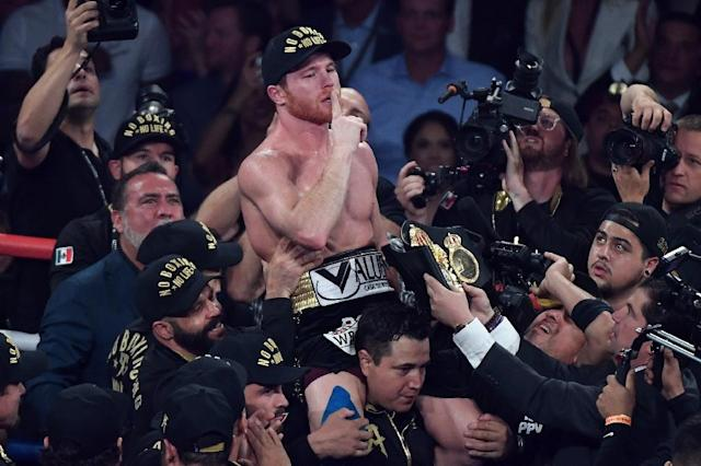 Canelo Alvarez ended Golovkin's unbeaten reign as unified middleweight champion with a majority decision in Las Vegas (AFP Photo/Ethan Miller)