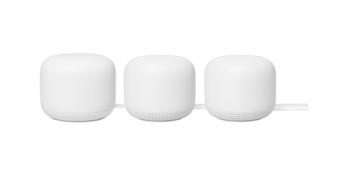 Google Nest Wifi 5 Router with 2 Points - 3 Pack
