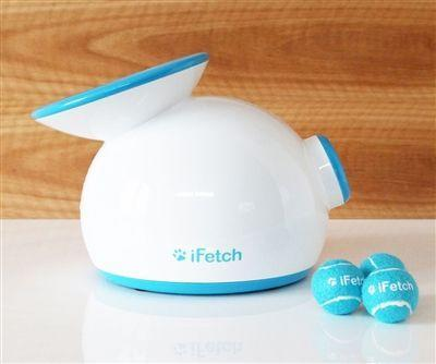 """<p>iFetch</p><p><strong>$115.00</strong></p><p><a href=""""http://shop.goifetch.com/product-p/ifetch.htm?_ga=1.4226036.671421656.1392659117"""" rel=""""nofollow noopener"""" target=""""_blank"""" data-ylk=""""slk:SHOP IT"""" class=""""link rapid-noclick-resp"""">SHOP IT</a></p><p>The iFetch is designed to play """"fetch"""" with your dog so you don't have to get up from the couch, which makes it a gift for your dog <em>and</em> for yourself! The kettle-shaped gadget spits out tiny tennis-like balls to a distance of up to 30 feet, or as close as 10 feet if you're playing indoors. </p>"""