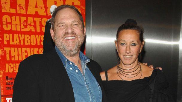 PHOTO: Harvey Weinstein and designer Donna Karan arrive during the premiere of 'The Hunting Party' at the Paris Theater in this Aug, 22, 2007 file photo in New York. (Dimitrios Kambouris/WireImage via Getty Images )