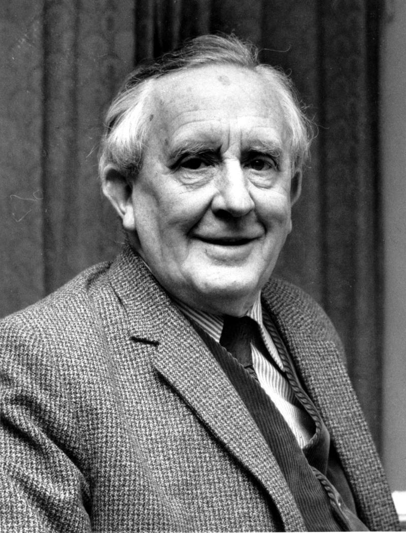 "**FILE**This is a 1967 photo of J.R.R. Tolkien. Tolkien was the author of ""The Lord of the Rings"" and an Oxford University Professor. An unfinished tale by the author has been edited by his son into a completed work and will be released next spring, the U.S. and British publishers announced Monday, Sept. 19, 2006. Christopher Tolkien has spent the past 30 years working on ""The Children of Hurin,"" an epic tale his father began in 1918 and later abandoned. (AP Photo)"