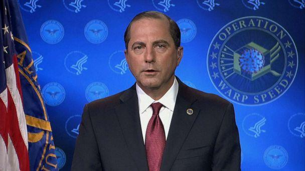 PHOTO: United States Secretary of Health and Human Services Alex Azar appears on 'Good Morning America,' Jan. 12, 2020. (ABC News)