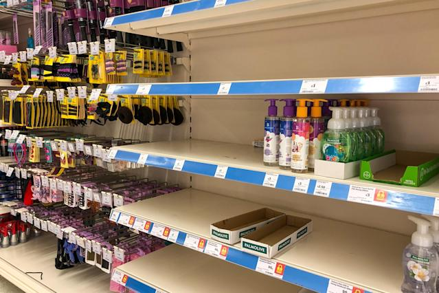 Shoppers have been panic buying antibacterial handwash in the UK (Getty Images)