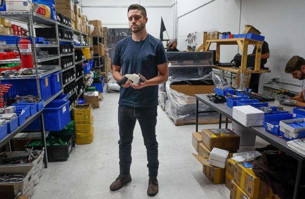 PHOTO: Cody Wilson, owner of Defense Distributed company, holds a 3D printed gun, called the 'Liberator,' in his factory in Austin, Texas, Aug. 1, 2018. (Kelly West/AFP/Getty Images)
