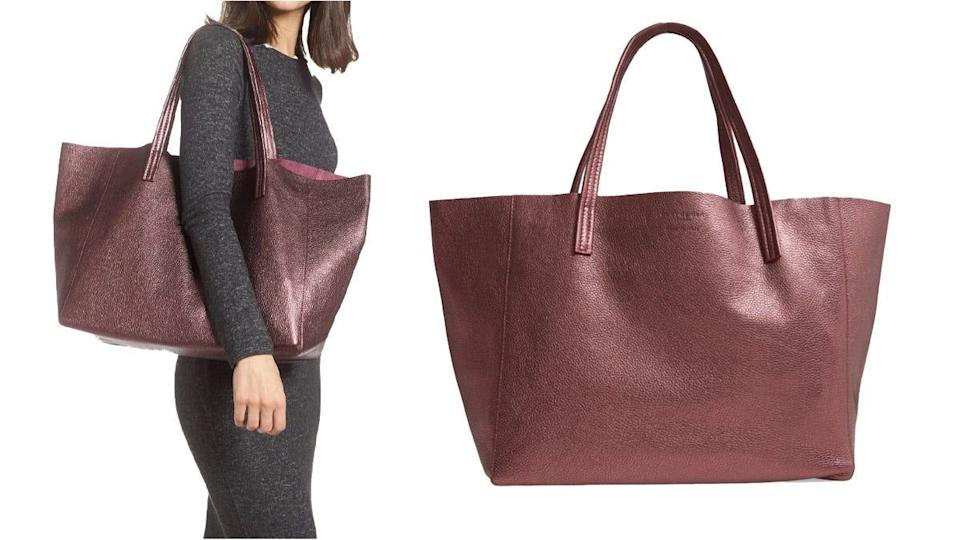 """Reviewers loved the """"beautiful"""" drape of this unstructured tote."""