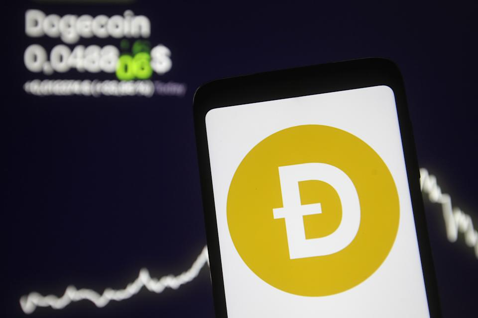 Dogecoin's market cap has soared to over $70bn to become the fourth-most valued coin, according to Coinmarket. Photo Illustration: Pavlo Gonchar/SOPA/LightRocket via Getty