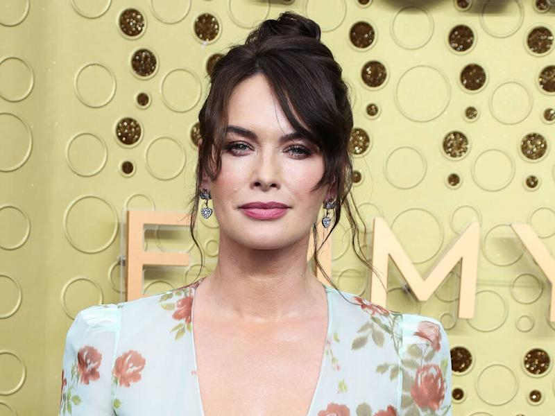 Lena Headey serves coffee to unsuspecting shoppers