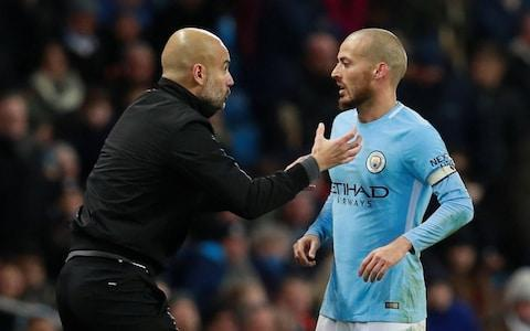 """Jose Mourinho has fired up Sunday's potentially explosive Manchester derby by taking a swipe at Pep Guardiola over the fitness of David Silva. Mourinho has accused Guardiola of using mind games after the Manchester City coach claimed Silva is doubtful for the Premier League clash at Old Trafford. Arsenal's Arsene Wenger was also caught in the Portuguese's crossfire over comments made about Alexandre Lacazette, who started the game against United on Saturday, despite being apparently ruled out 48 hours before. But it is the uncertainty over Silva's involvement which has riled Mourinho, after the winger failed to travel to Ukraine for City's Champions League game against Shakhtar Donetsk. Guardiola insisted he did not know whether Silva would be fit to play, but when asked which of his own players could return, Mourinho replied: """"When we have a problem, we have a problem. """"When players are injured, they are injured. I tell you the truth. The truth is Eric Bailly has no chance for the weekend, Phil Jones a chance, [Marouane] Fellaini a chance, Zlatan [Ibrahimovic] a big chance and [Nemanja] Matic is injured but will play for sure. [Michael] Carrick, no chance. """"No stories of Lacazette or David Silva. All the truth. Our opponents have all these issues. They have a big issue but, in the end, everybody is ready to play. They have phenomenal organisations. We are a bit more humble."""" Mourinho was in typically spiky mood after United secured top spot in Group A after their 2-1 win over CSKA Moscow. Mourinho couldn't resist commenting on Guardiola and David Silva Credit: Action Images It means they have reached the last 16 of the Champions League for the first time since 2014, after goals from Romelu Lukaku and Marcus Rashford. """"I think that teams will not be jumping with happiness to play against us,"""" he said. """"I am not the luckiest guy with draws, so it is better I shut up and forget it because we only play in February. Until then I have to concentrate on the English compet"""