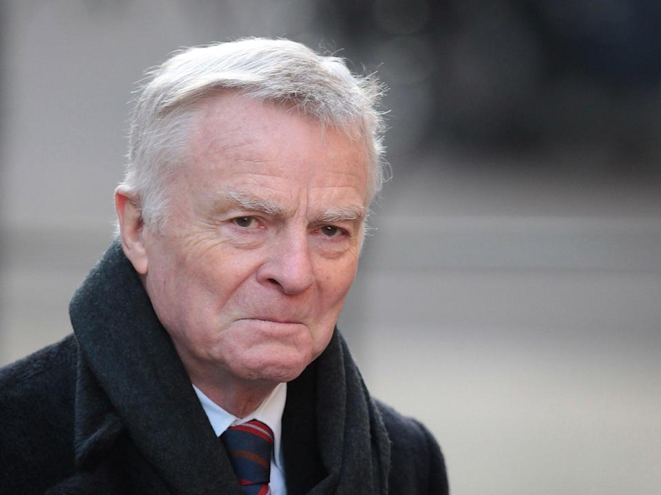 Mosley attending the Leveson Inquiry in London in 2012 (Getty)